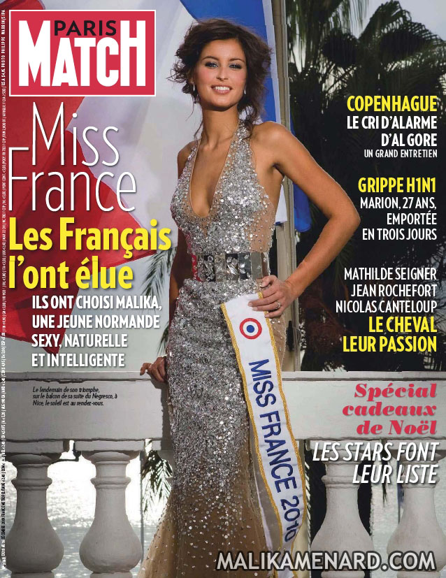 malika menard miss france paris match 3160 couverture malika m nard. Black Bedroom Furniture Sets. Home Design Ideas